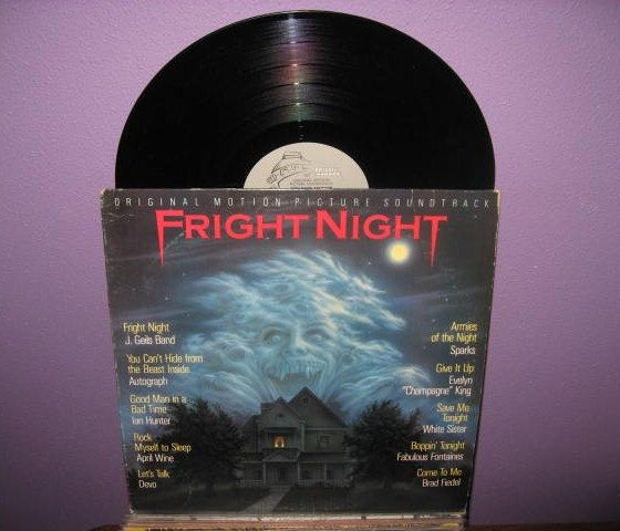 Rare Vinyl Record Fright Night Original Soundtrack LP 1985  This is an amazing soundtrack by Brad Fiedel.