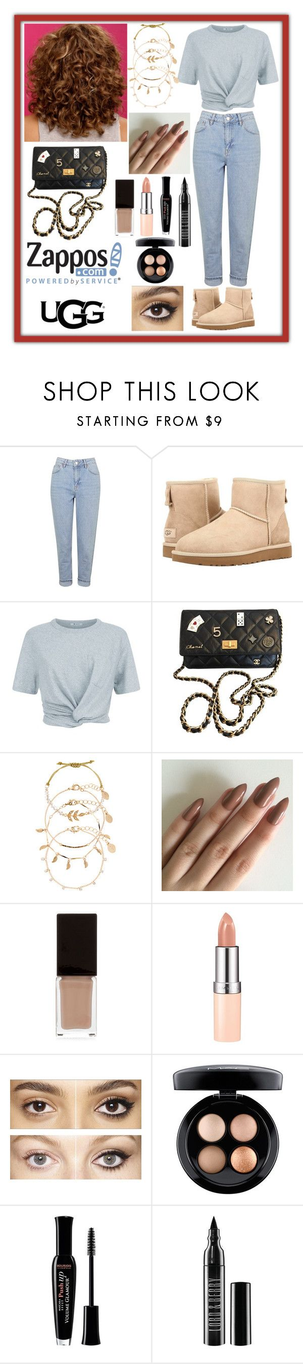"""""""The Icon Perfected: UGG Classic II Contest Entry"""" by haybeebaby ❤ liked on Polyvore featuring Topshop, UGG Australia, T By Alexander Wang, Chanel, Accessorize, Serge Lutens, Rimmel, Charlotte Tilbury, MAC Cosmetics and Bourjois"""