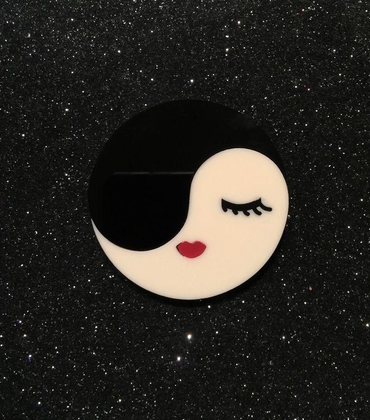 Miss Yin Yang brooch by Baccurelli