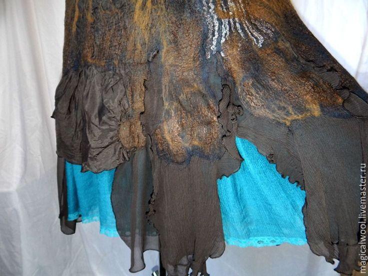 """Купить платье валяное """"богемное лето"""" - разноцветный, платье летнее, платье, Платье нарядное"""