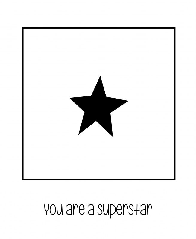 zwarte ster-polaroid | * Polaroids | you are a superstar