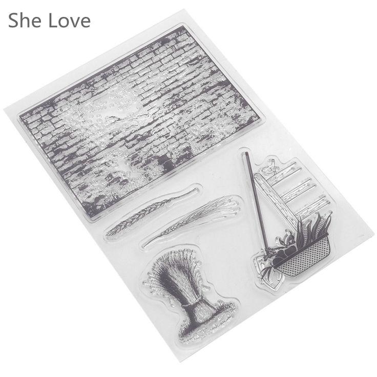 pas cher timbre clair pour scrapbooking mur antique botte de foin transparent silicone en caoutchouc diy