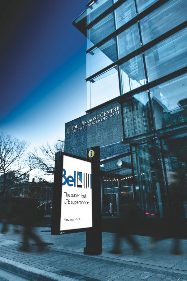 Signature Column / Colonne Signature - Bell  #StreetFurniture #OutdoorAdvertising #AffichageExterieur #AstralOutOfHome #AstralAffichage #Publicite #Ads #Billboard #PanneauAffichage #Toronto