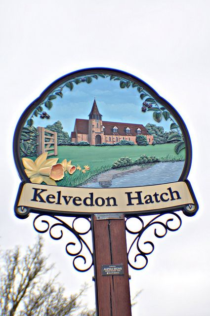 """Kelvedon Hatch, Essex. Kelvedon means """"spotted hill,"""" possibly referring to the stony hillsides in the area. A hatch is a gate or fence."""