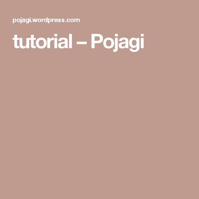 tutorial – Pojagi