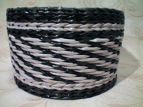 Fillet-cotton newspaper weave. - YouTube