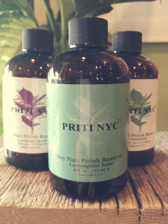 Priti NYC Assorted Polish Removers - This polish remover is the best! It is all natural and it leaves your nails feeling moisturized, instead of all dried out.  $23.50/bottle