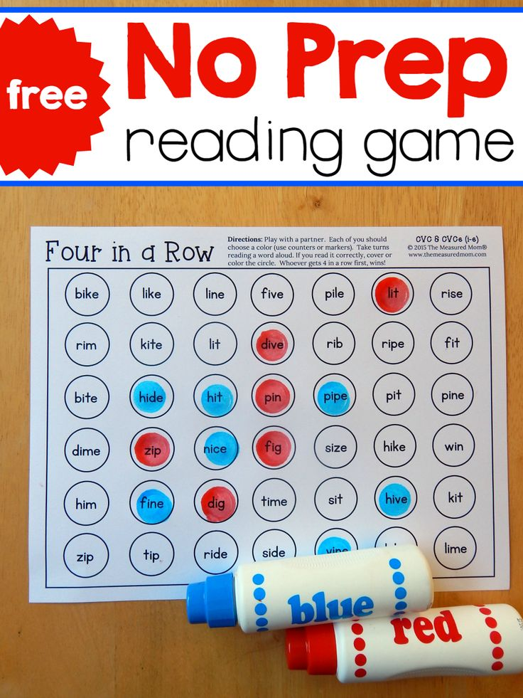 These four no-prep reading games give great practice reading i-e words! And they're free!