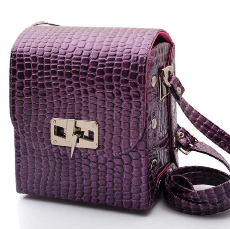 Purple Croc Satchel