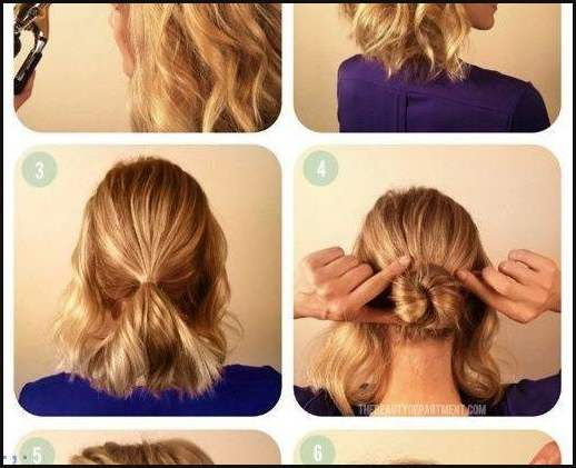 Diy Dutt Für Kurze Haare Neue Frisur Einfache Frisuren Mir