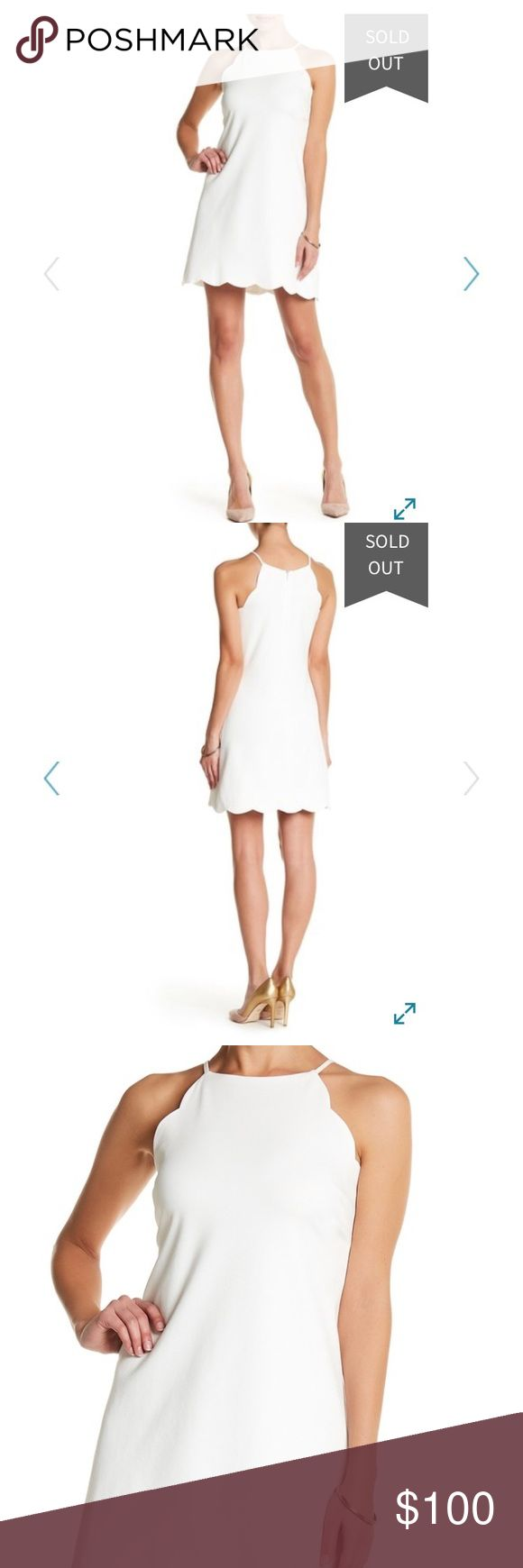 Nordstrom Rack Love Ady Scalloped Trim Shift Dress NWOT. NEVER WORN. Bought for graduation and ended up wearing a different dress instead. Purchased online from Nordstrom Rack. Love Ady Scalloped Trim White Shift Dress. Zips in back. Size XS. Nordstrom Dresses