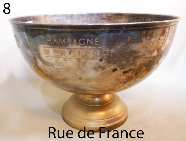 Large 6 bottle French champagne bucket / cauldron in silver plate