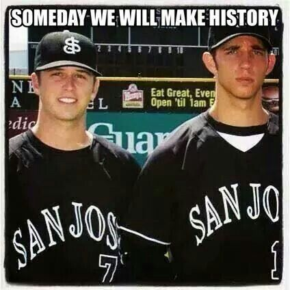 Who knew together they'd be a part of a Dynasty!! SAN FRANCISCO GIANTS WORLD SERIES CHAMPIONS 2010-2012-2014