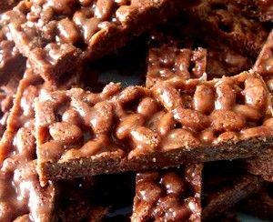 Barres chocolatées façon Lion sans oeufs sans gluten