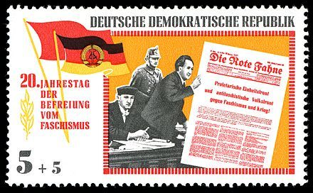 Briefmarke DDR 1965 Dimitrow vor dem Reichsgericht in Leipzig
