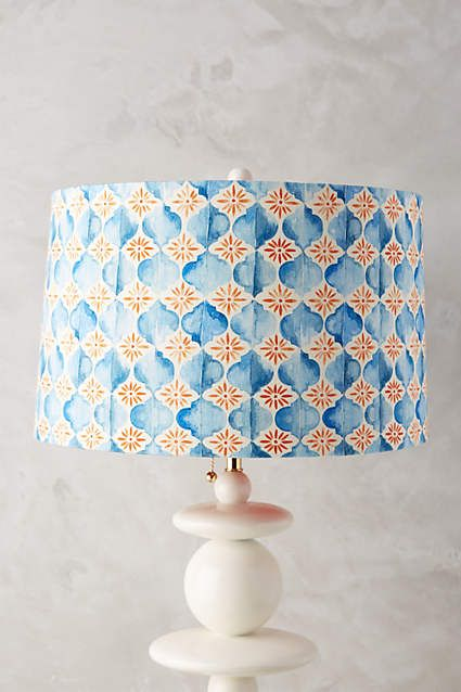 Watercolor Tile Lamp Shade - anthropologie.com