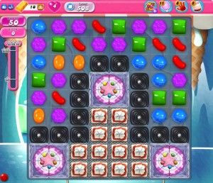 Candy Crush Level 508 - Clear all the jelly and reach 50000 points in 50 moves to complete the level.