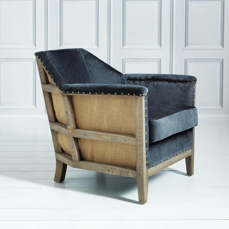 Hoxton Armchair in Grey Velvet - Armchairs - Shop By Item - Sofas & Upholstery
