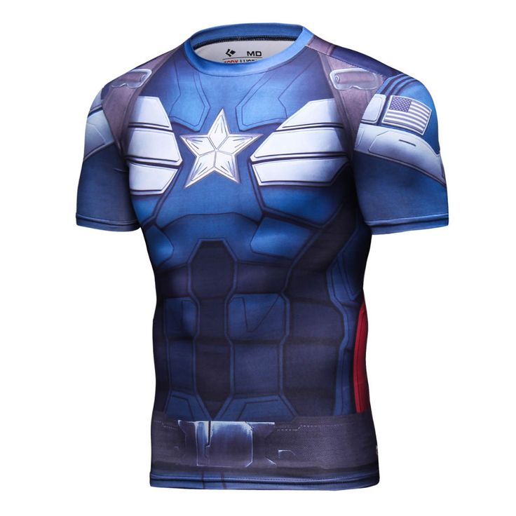 CAPTAIN AMERICA Compression Shirt for Men (Short Sleeve)  #superhero #batman #compressionshirt #captainamerica