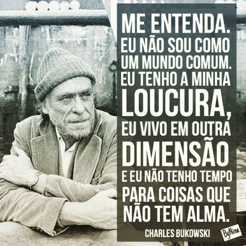 Boa noite! #citações #frases #loucura #pessoas #bukowski #instabynina