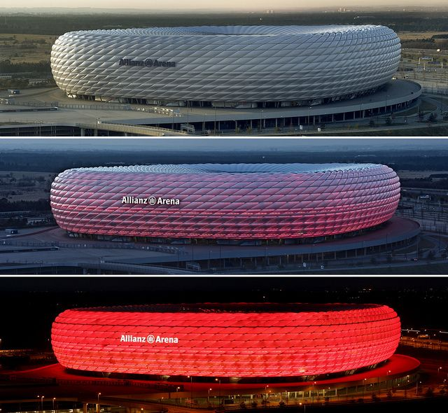 Allianz Arena stadium, Munich - Fc Bayern Munich (Bundesliga) - Capacity: 71 137 - #Stadium #Arena