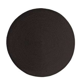 Round Placemats BLACK by John Ritzenthaler Company. $1.95. These round placemats with a woven texture are great for indoor and outdoor dining. They wipe clean for easy care. Placemats are made from polypropylene.