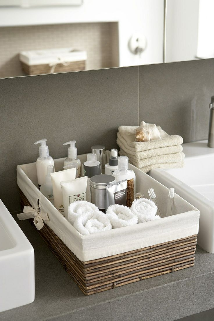 Toiletries are easy to access in your guest bathroom.
