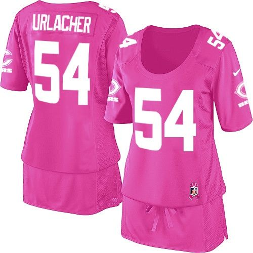 $109.99 Women's Nike Chicago Bears #54 Brian Urlacher Elite Breast Cancer Awareness Pink Jersey