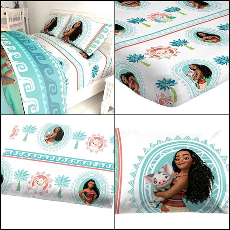moana sheet set twin size bed for kids girl toddler 3 piece soft gift new