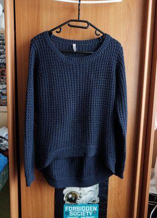 Kupuj mé předměty na #vinted http://www.vinted.cz/damske-obleceni/svetry/14799192-pleteny-tmave-modry-svetr-s-delsi-zadni-casti