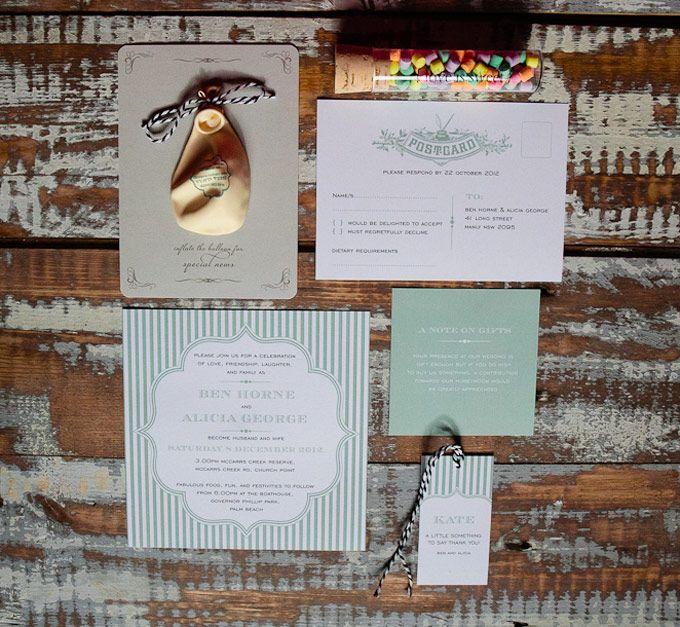 Vintage Charm wedding invitations. The Paper Mint || thepapermint.com.au