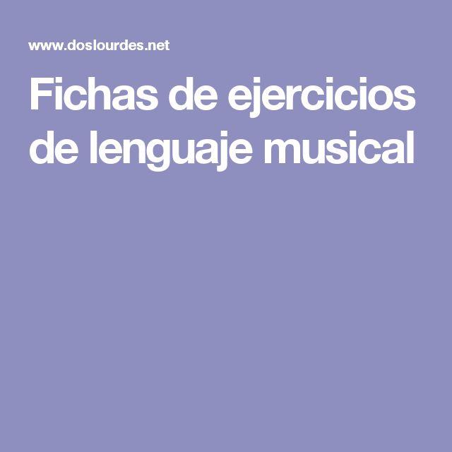 Fichas de ejercicios de lenguaje musical