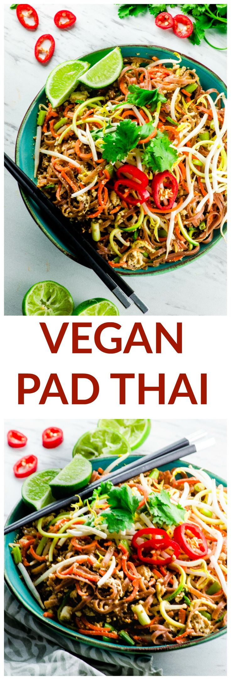 Forget takeout! This Vegan Pad Thai Salad is a lig…