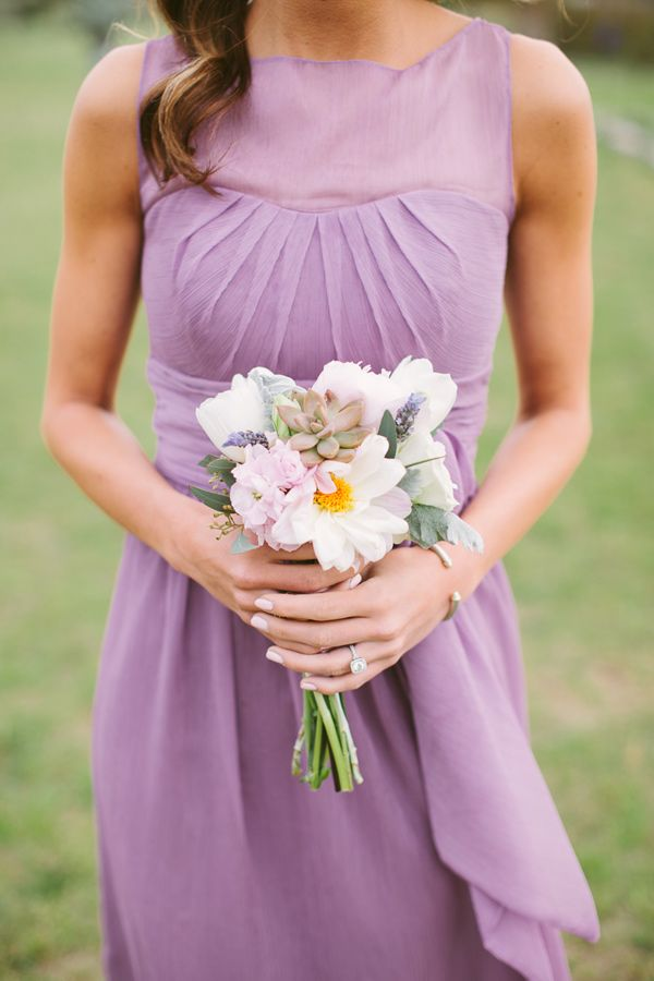 purple bridesmaid dress, photo by J.Bird Photography http://ruffledblog.com/austin-le-san-michele-wedding #weddingideas #bridesmaids