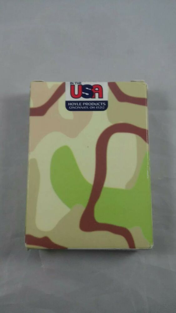 Sealed Camo Desert Storm Military Hoyle Usa Iraqi Most Wanted