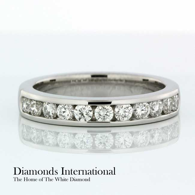 Channel Set Wedding Ring 18ct White Gold Channel Set Wedding Ring. Product Reference 0411716 #love #like #life #happy #couples #diamonds #bestfriend #engaged #wife #wifey #diamondsinternational #married #forever #white #gold #whitegold #ring #jewellery #channelset
