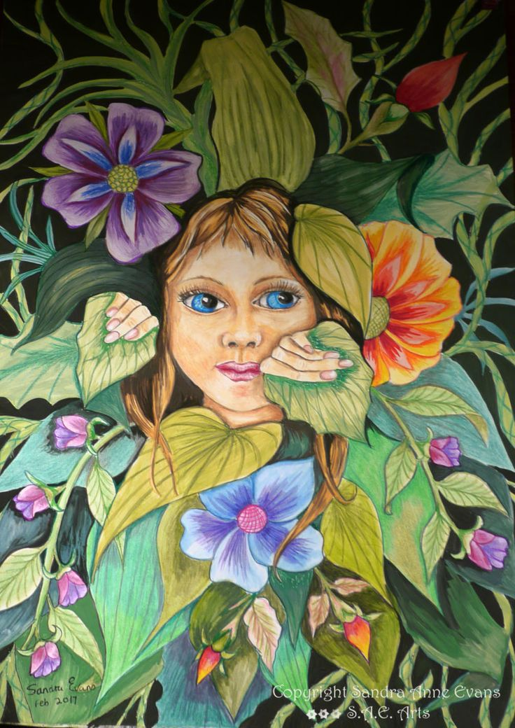 """Hide and Seek"" she hides among the flowers but you cant always see her! http://www.saeart.com/"