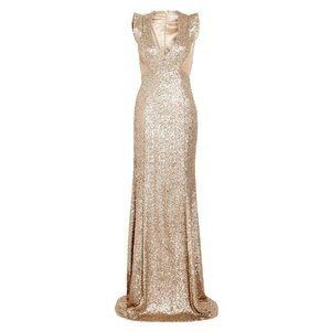 LOVE this! How can I make it be back in stock?? Project D London antique gold Ursula sequin fishtail maxi dress, $818.12 at My Wardrobe
