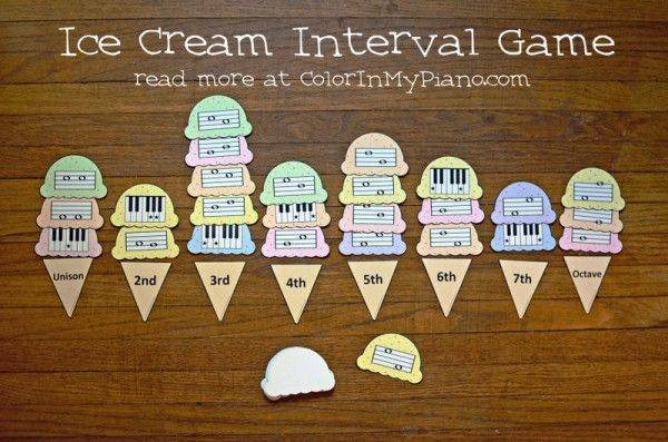 The Ice Cream Interval game -- what fun for music students!