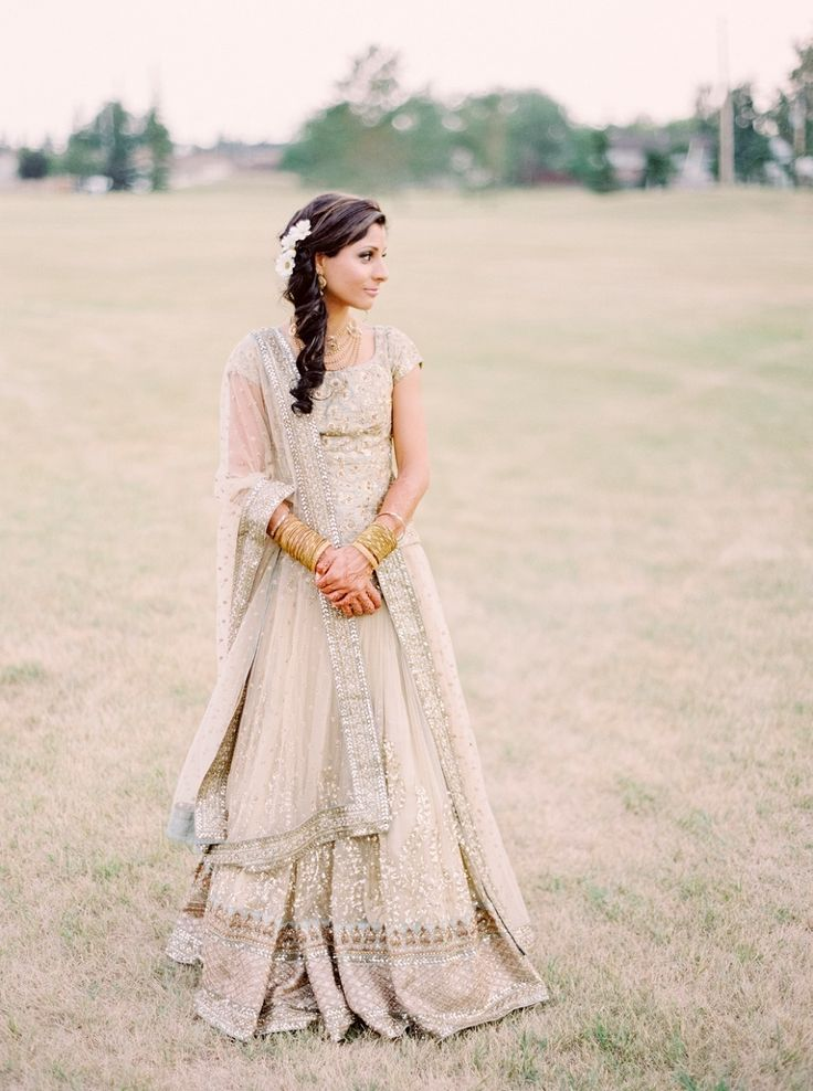 Nude & Gold Indian Wedding  |  Milton Photography  |  Style Me Pretty Blog