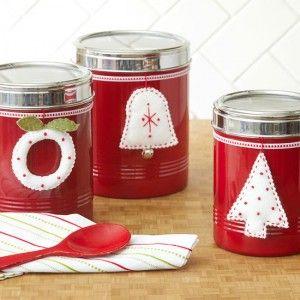 decorative holiday jars