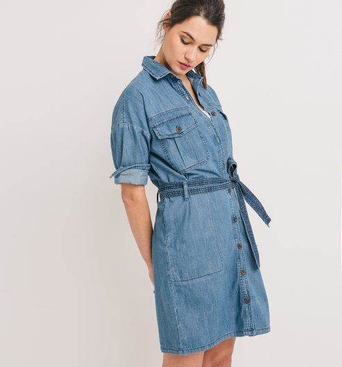 Jeansowa sukienka jeans - Promod