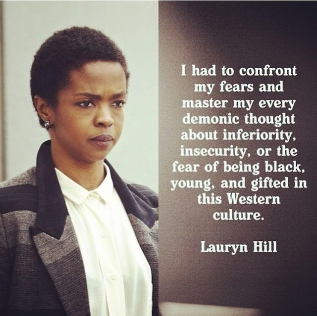 Lauryn Hill quote to put on wall using diy contact paper
