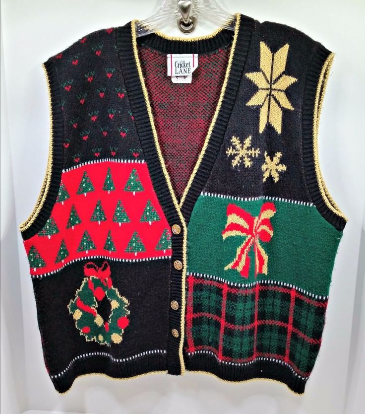 Mens Ugly Christmas Sweater Vest Xxl