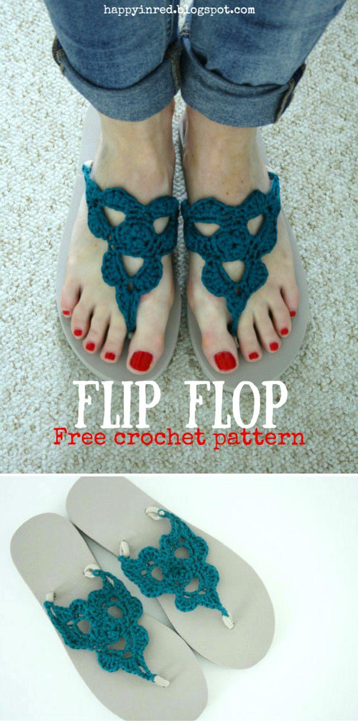 Best 25 crochet flip flops ideas on pinterest flip flop shoes crochet flip flops free pattern bankloansurffo Gallery