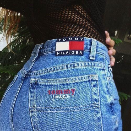 tommy hilfiger, 90s style, denim, jeans, style, fashion