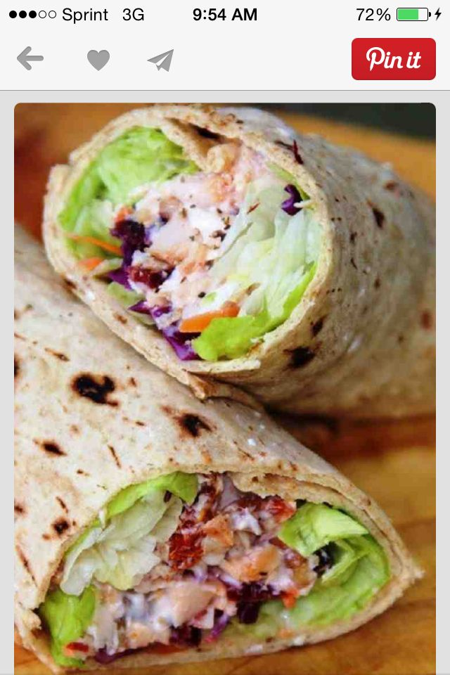 Tortilla-spicy grilled chicken, bacon, lettuce, tomato, avocado wraps! Yum yum