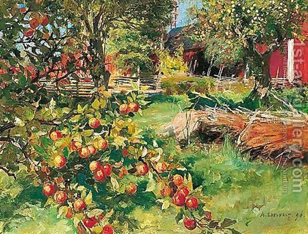 Vanhasta Hedelmatarhasta (From The Old Fruit Garden) by Albert Edelfelt