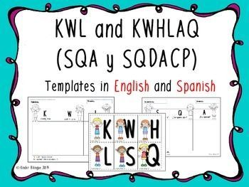 KWL (SQA) English/ Spanish version + the new version.
