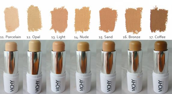 Vichy Dermablend is a line of ultra pigmented, high coverage make-up created specifically for the needs of those with skin imperfections. The Ultra Corrective Cream Stick Foundation is particularly great for targeted cover-ups, with an opaque finish and a long-lasting formulation. It can even cover tattoos and scars.